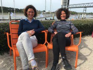 """Camille GAVERIAUX et Marine MELOCCO, fondatrices des """"P'tis Merlus citoyens"""", à Lorient (56)"""