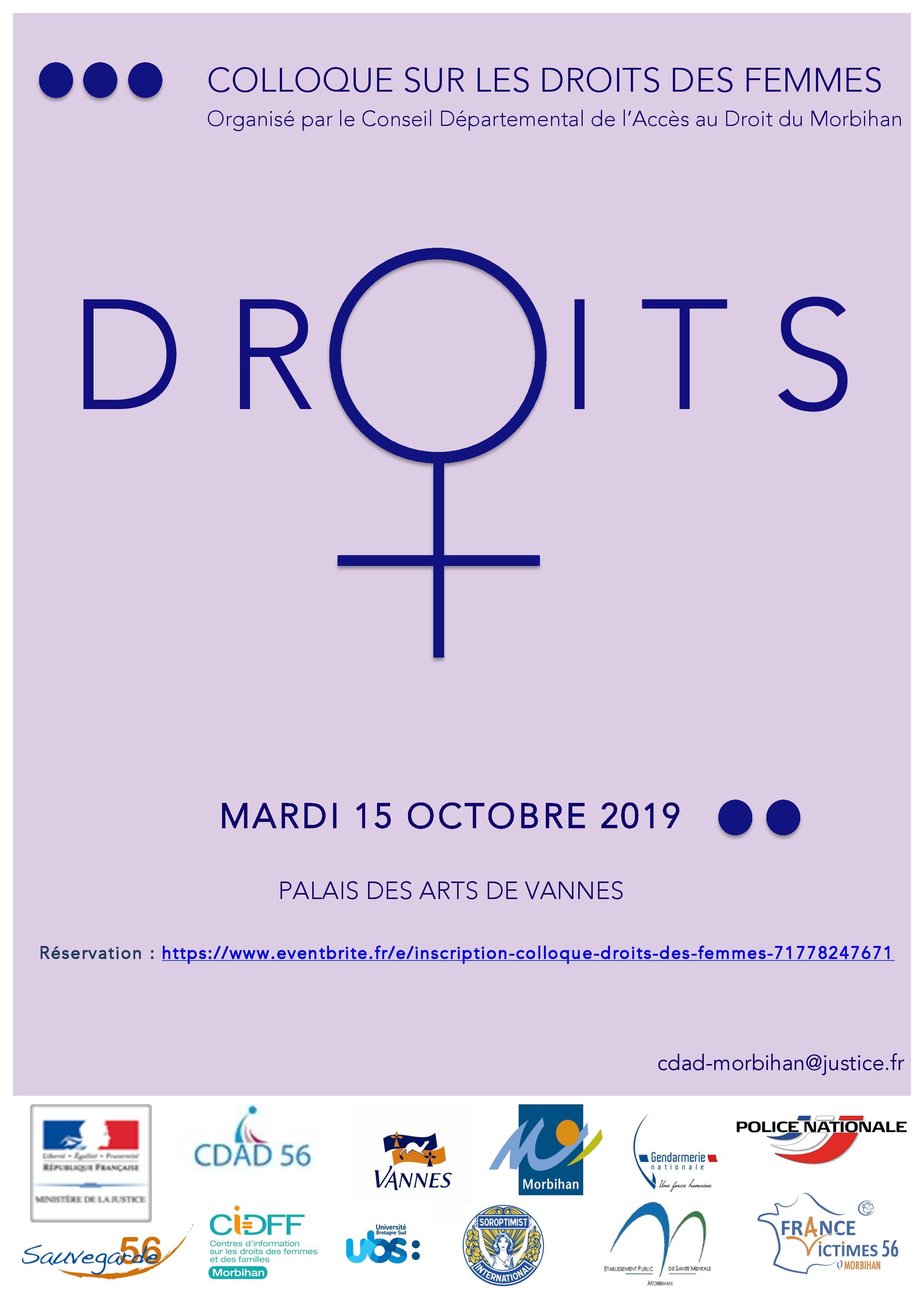 15/10/19-Vannes-Colloque droits des femmes