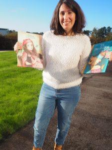 Cécile Lecomte. Avec les Editions La Pimpante, elle crée des livres jeunesse