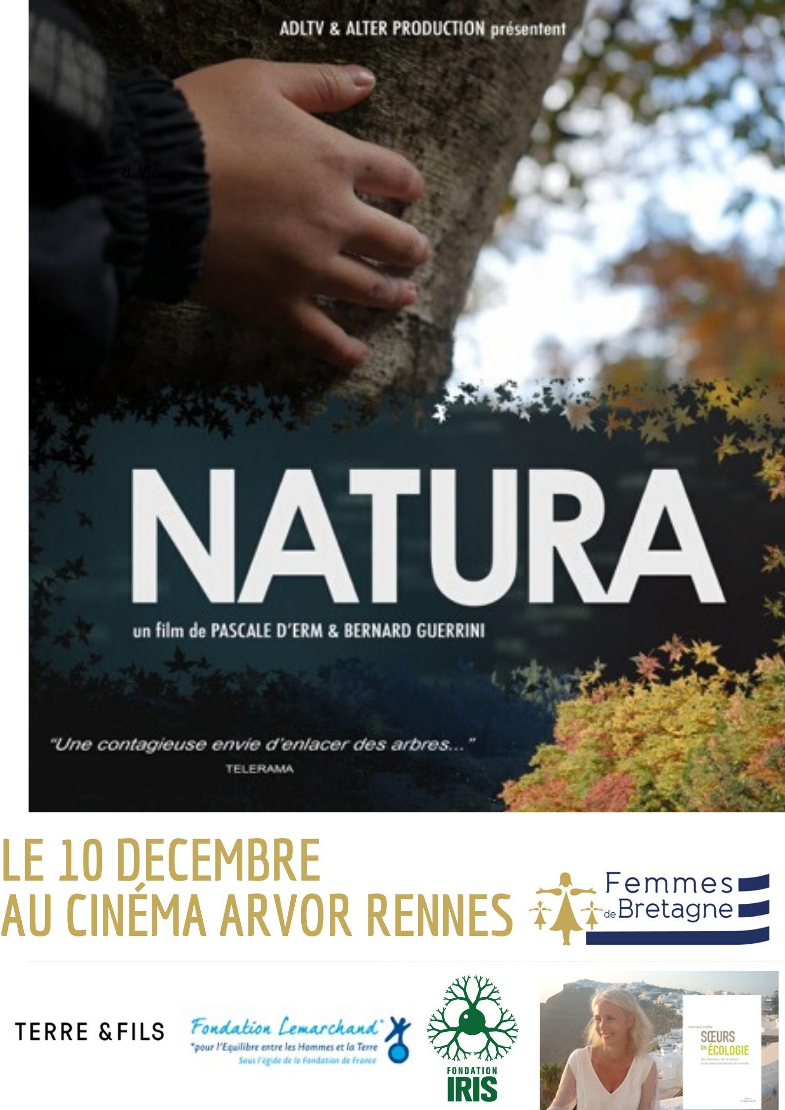10/12/19 – Rennes – Projection du documentaire NATURA réalisée par Pascale d'Erm